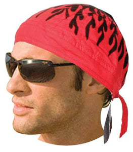HW2673 Headwrap Red Flames