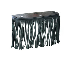 B1005 Black Leather Floor Boards with Fringe - Large