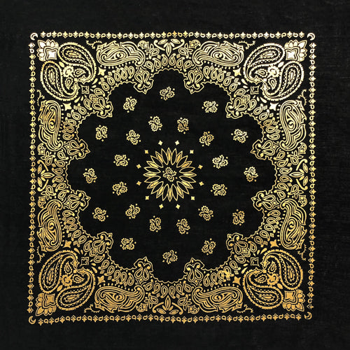 BD2520 Black Gold Metalic Paisley