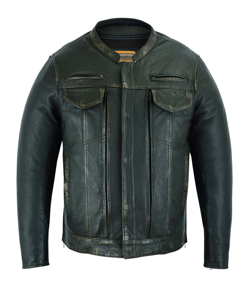 DS790 Men's Modern Utility Style Jacket in Lightweight Drum Dyed Dist