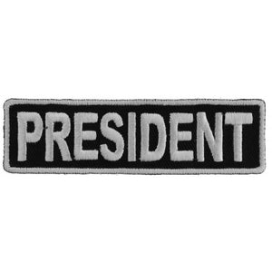 P3708 President Patch 3.5 Inch White