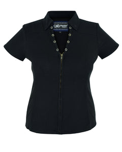 DM955 Women's Zip Front Shirt