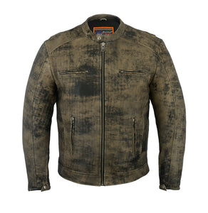 DS736 Men's Antique Brown Cruiser Jacket
