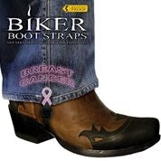 BBS-BC4 Weather Proof- Boot Straps- Breast Cancer- 4 inch