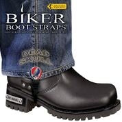 BBS/DS6 Weather Proof- Boot Straps- Dead Skull- 6 Inch