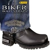 BBS/MC6 Weather Proof- Boot Straps- Maltese Cross- 6 Inch