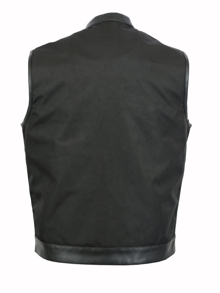 DS689 Concealed Snap Closure, Textile Material, Scoop Collar & Hidden