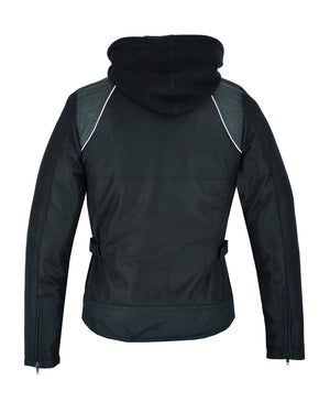 DS867 Women's Mesh 3-in-1 Riding Jacket (Black/Black Tone Reflective)