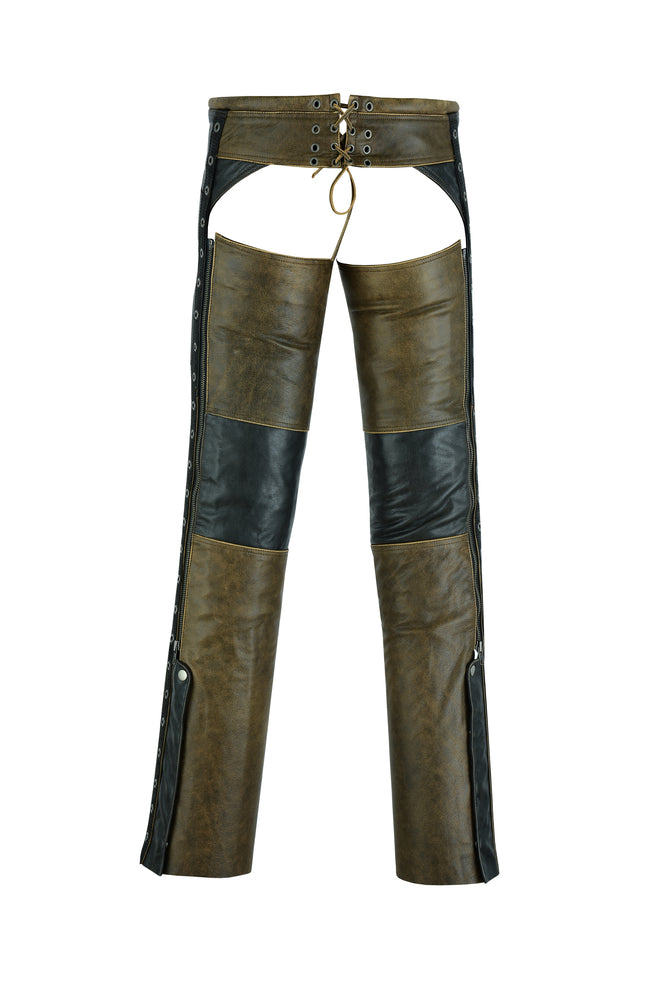 DS498 Women's Stylish Lightweight Hip Set Chaps- Two Tone