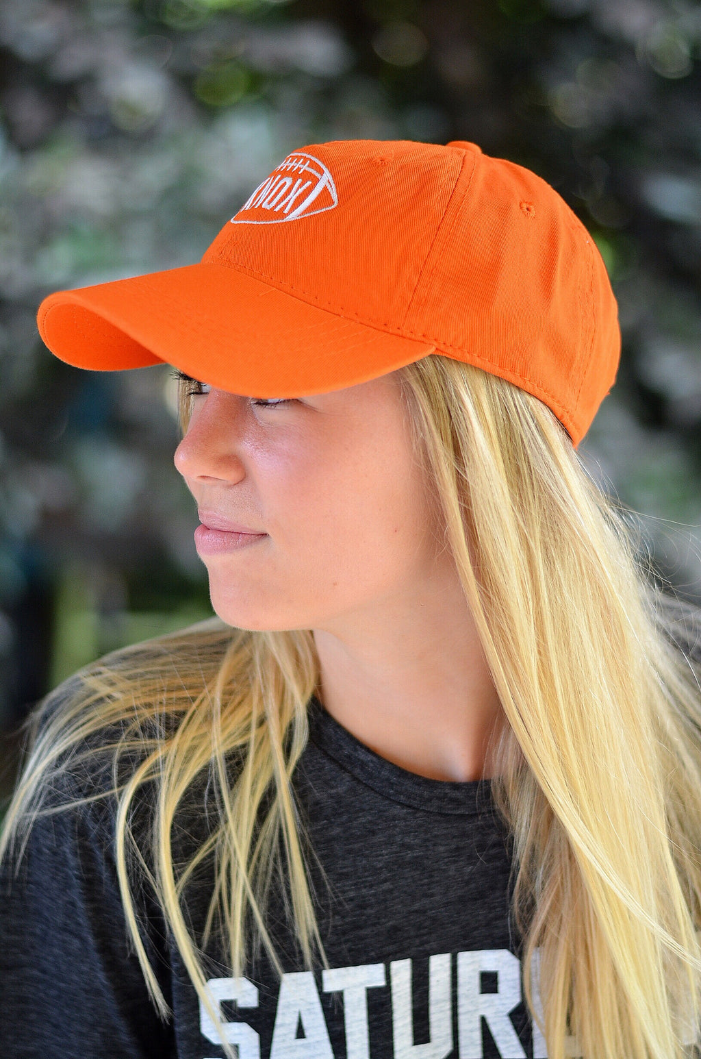 Football Hat in Orange, KNOX