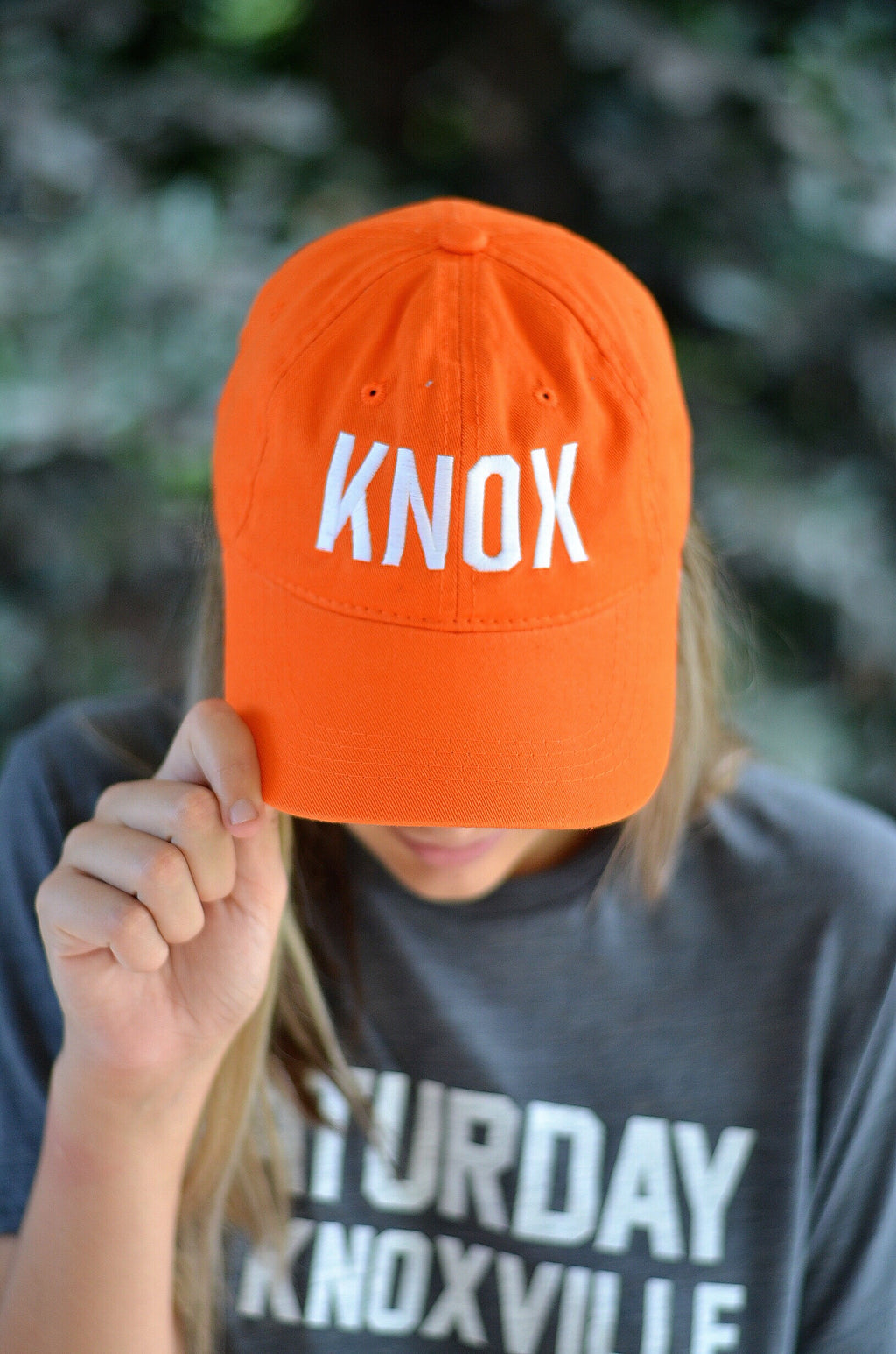 KNOX Hat, Orange with White Letters