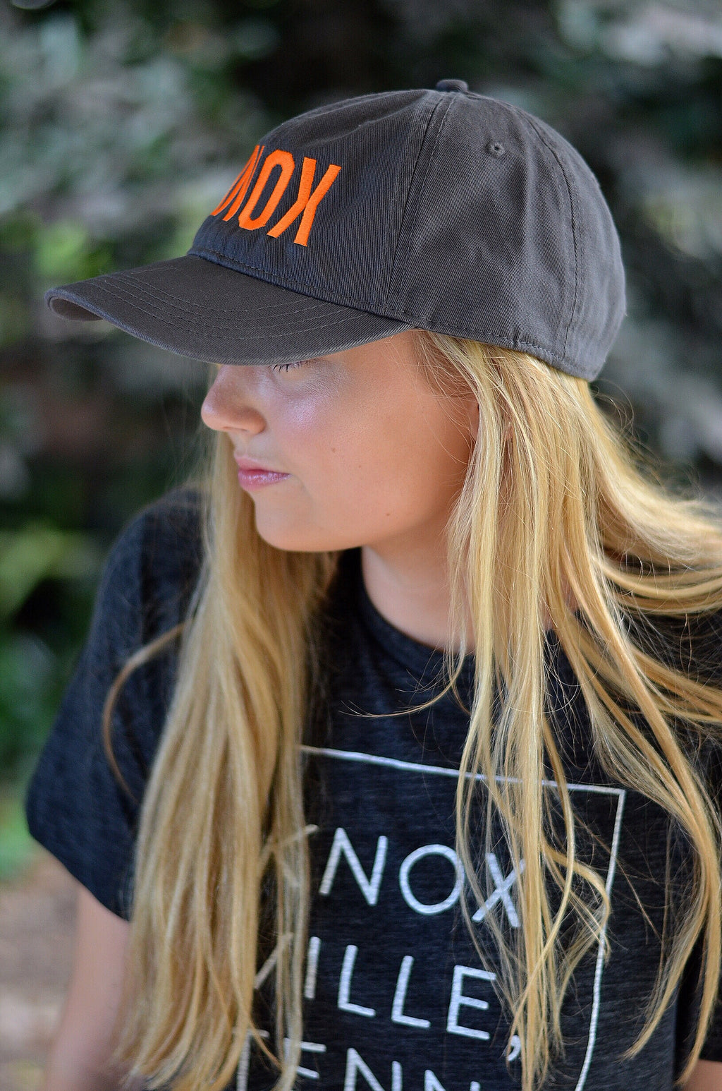 KNOX Hat, Gray with Orange Letters