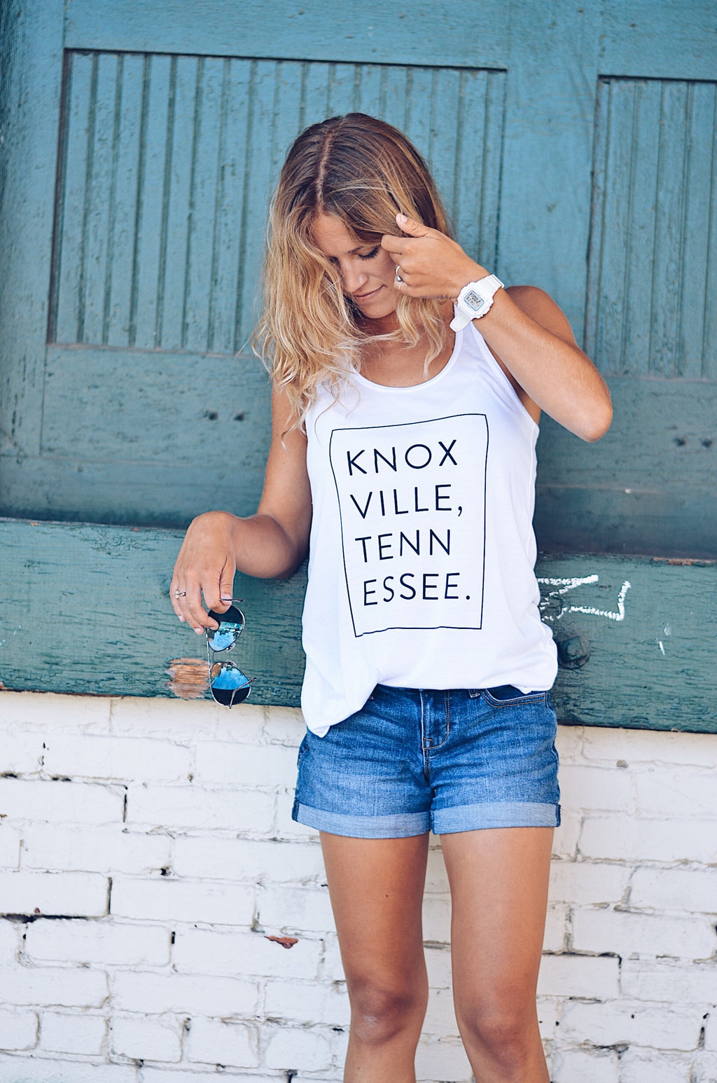 Signature Sticky Tank in White, KNOXVILLE
