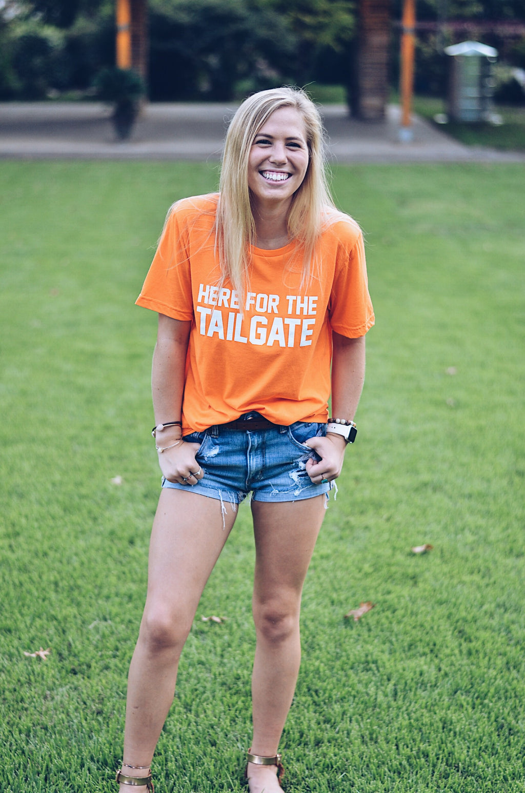 Here For The Tailgate, Neon Orange