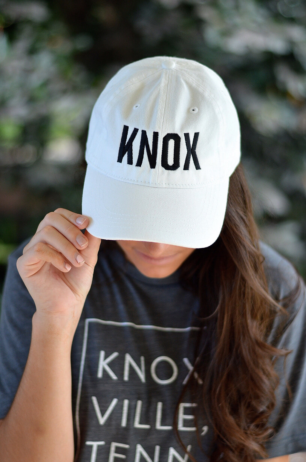 KNOX Hat, White with Black Letters