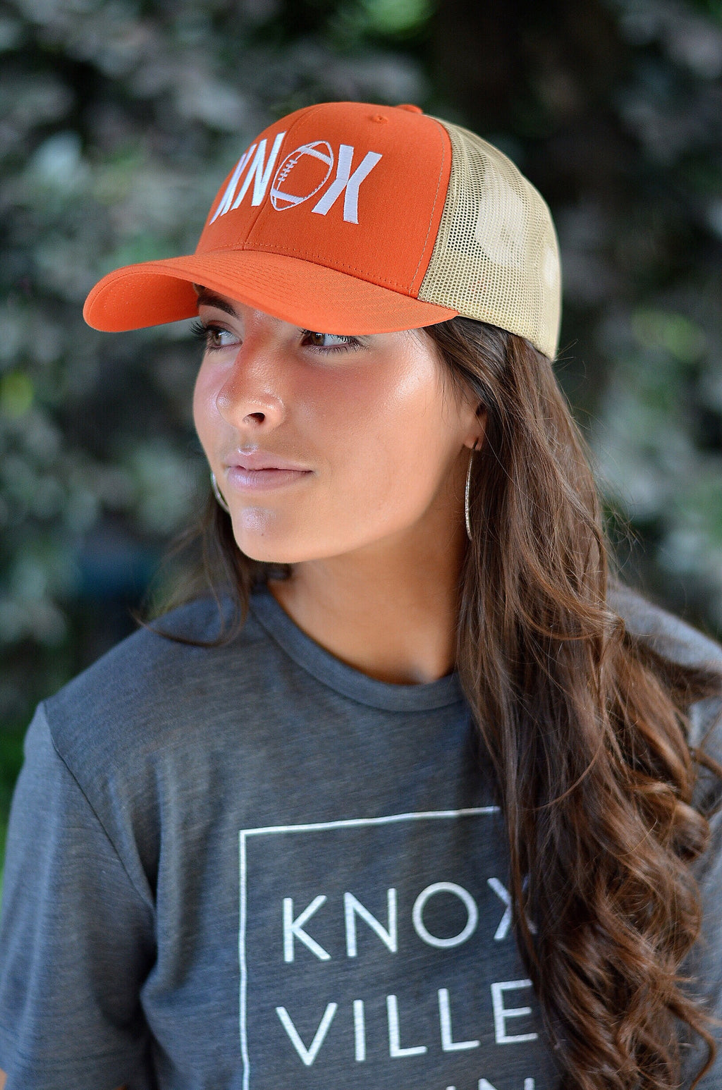 KNOX Football Trucker Hat, Orange