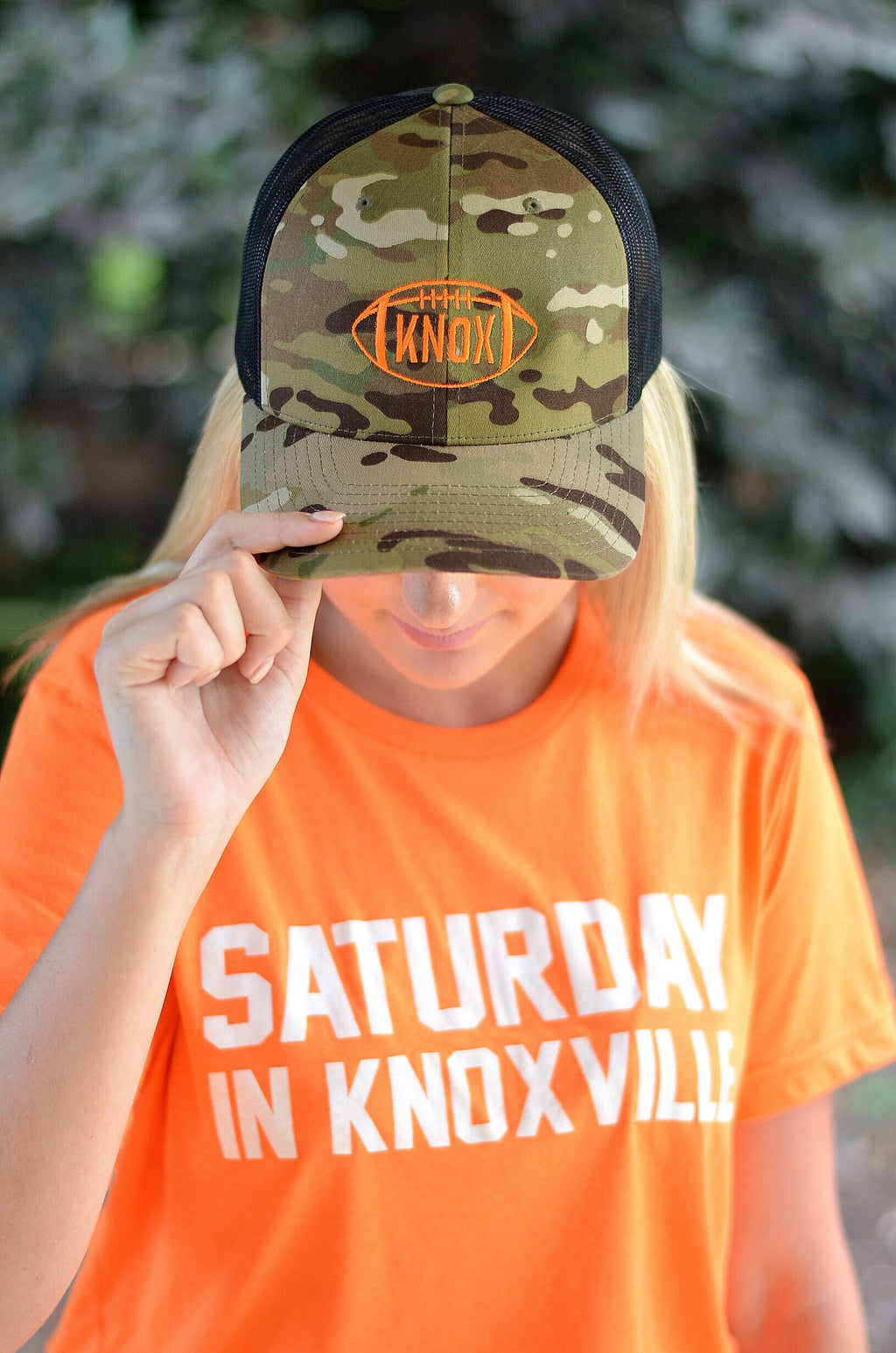 Trucker Football Hat in Camo, KNOX