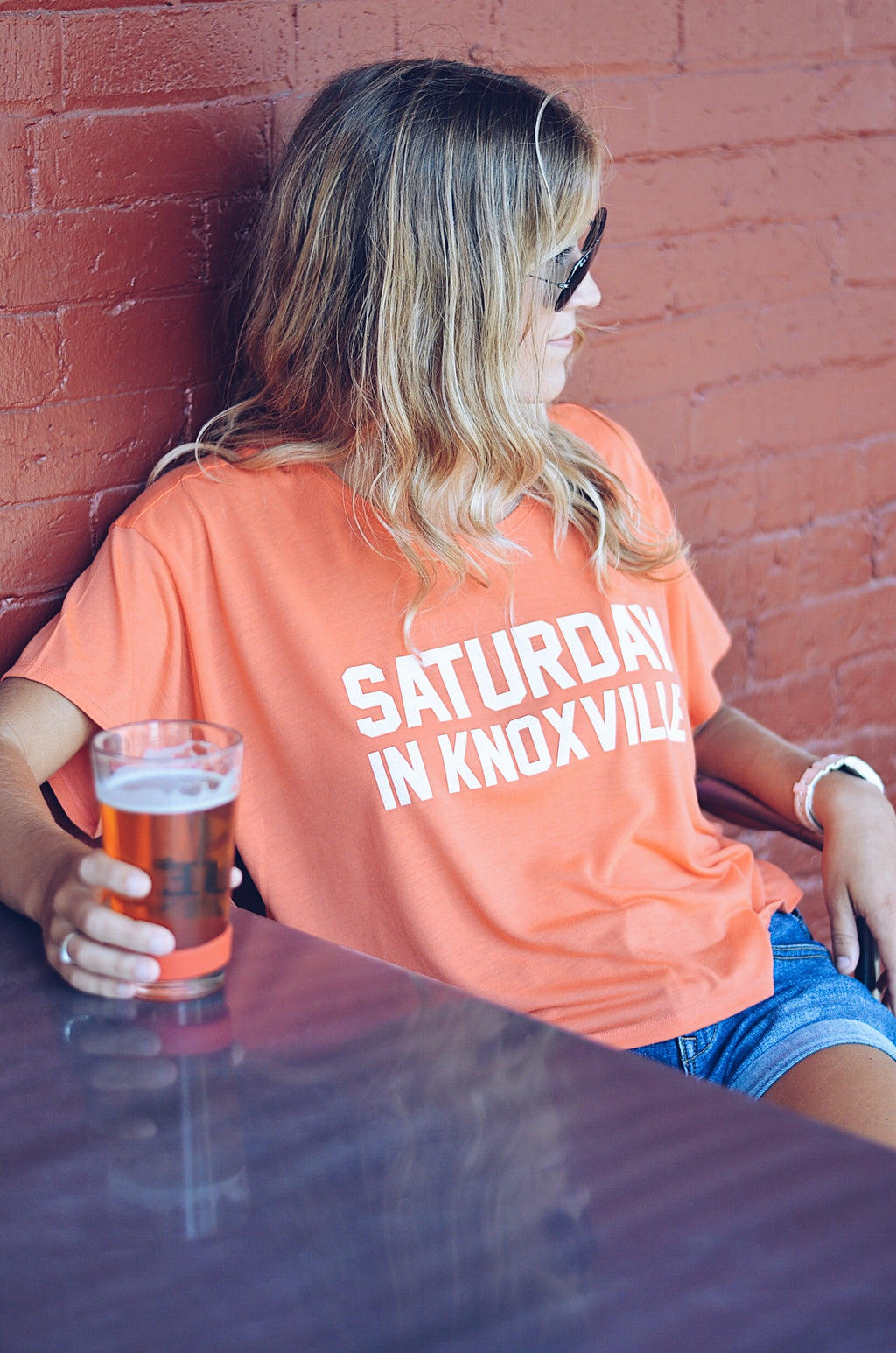 Saturday In Knoxville Crop Top, Coral