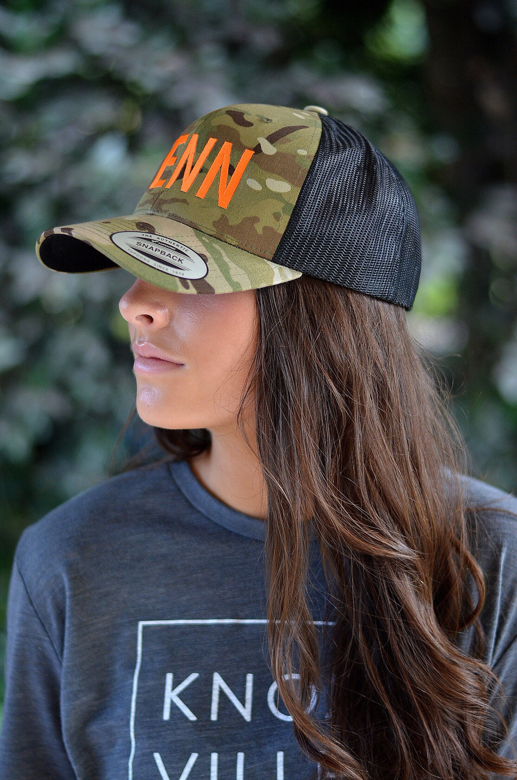 TENN Hat, Camo with Orange Letters
