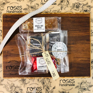 Roses Bamboo Snack Board and Delicacies