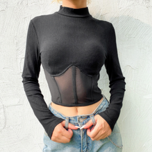 Load image into Gallery viewer, Corset Black T-Shirt
