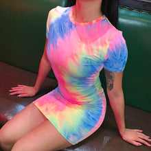 Load image into Gallery viewer, Tie Dye Mini Dress