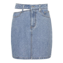 Load image into Gallery viewer, Jeans High Waist Skirt