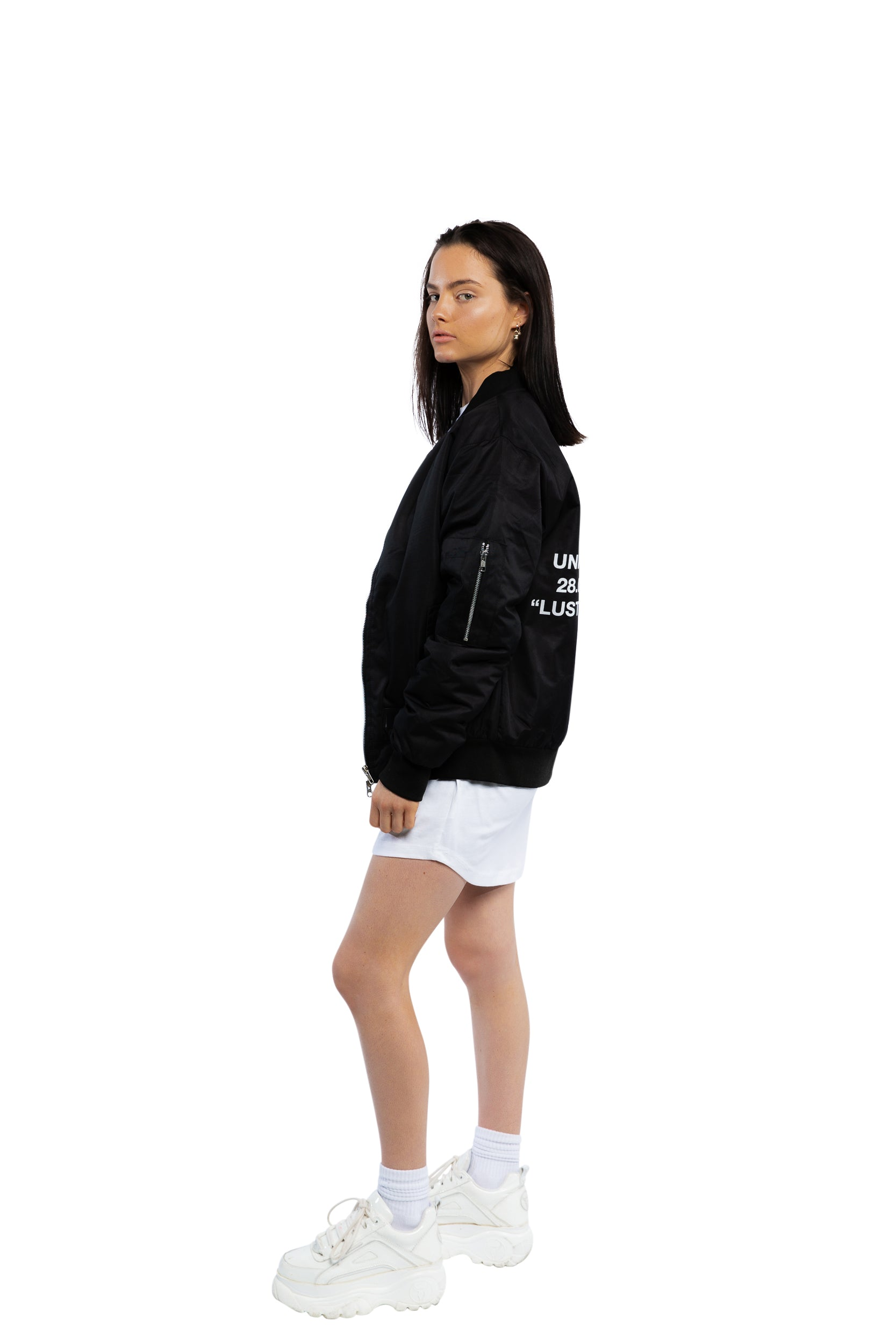 """Co-Ords"" Bomber Jacket - Black"