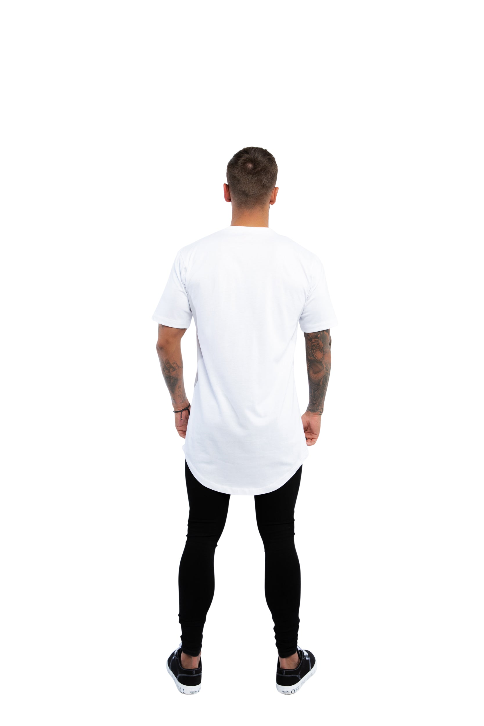 Tall Scoop Basic T Shirt - White