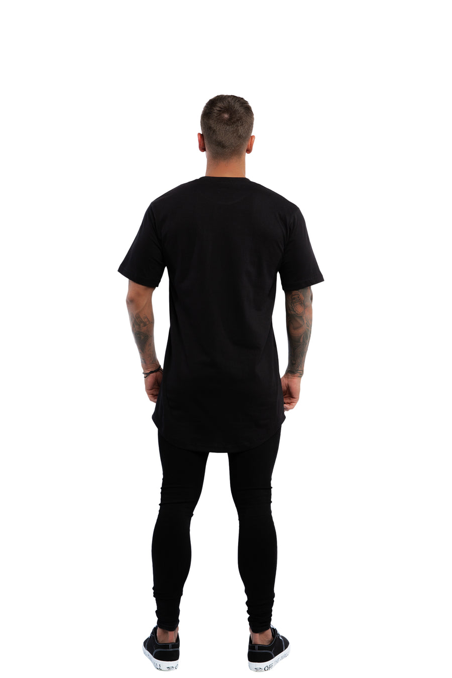 TALL SCOOP BASIC T-SHIRT - BLACK