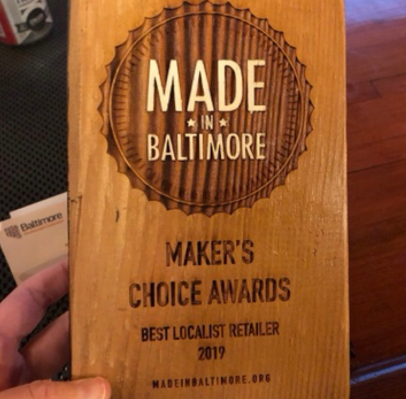 We Won An Award! The Importance of Networking for Your Business. (Makers Choice for Favorite Localist Retailer, from Made in Baltimore Organization)