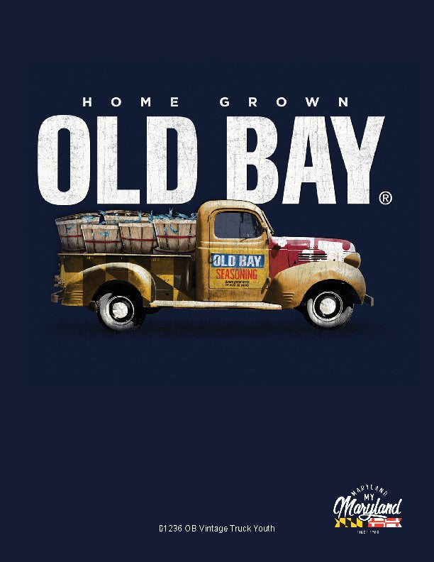 Kids Old Bay Vintage Truck Blue T-Shirt