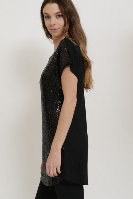 Sparkly Black Party Dress - thecodexclub