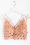 Jojo Pastel Orange Lace Bralette