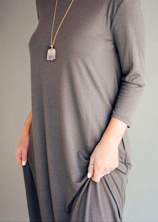 Gray Effie Maxi Dress