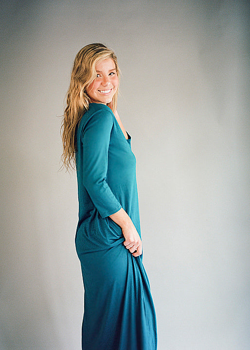 Teal Effie Maxi Dress