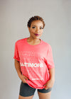 Red Baltimore Pattern T-Shirts by Pangea Printing