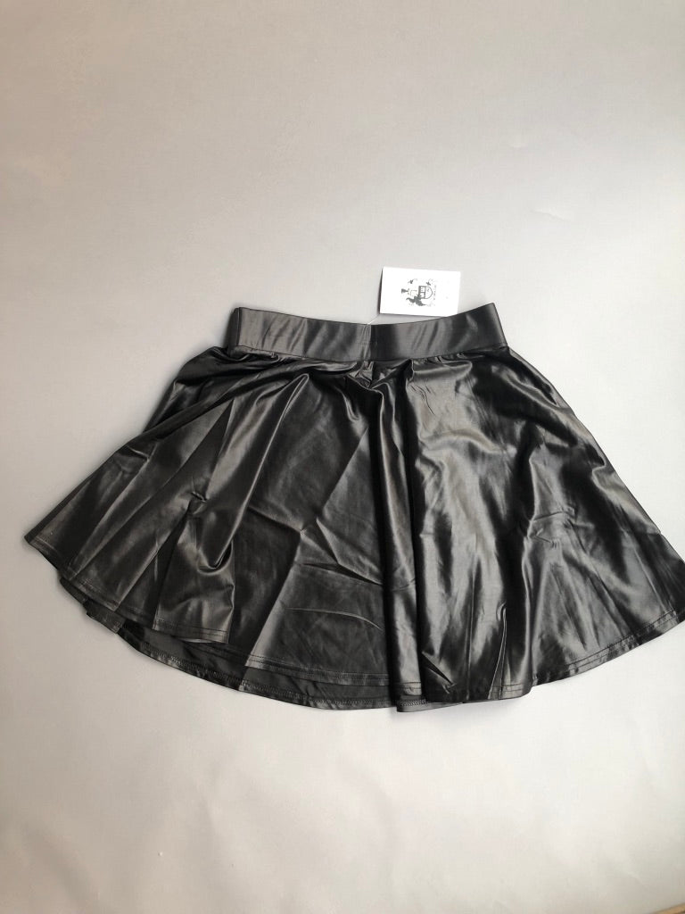 Chloe Black Leather Skirt