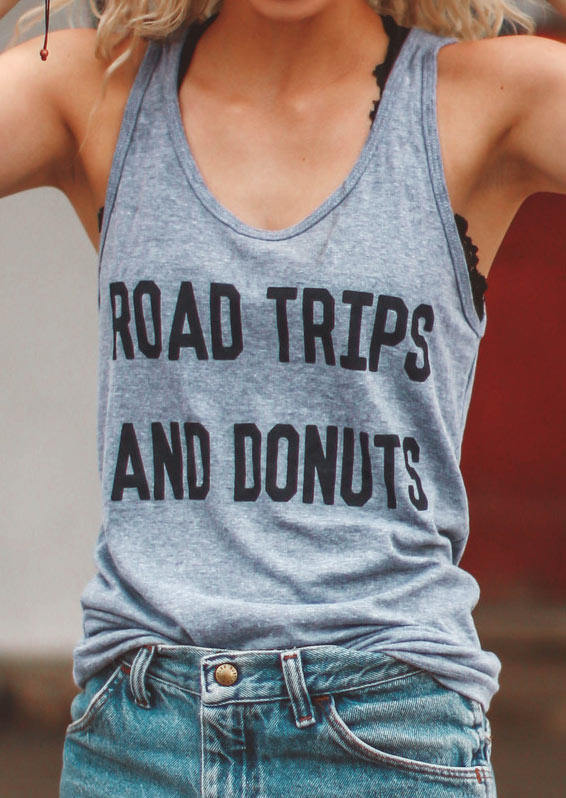 Road Trip And Donuts Tank by FAMS design