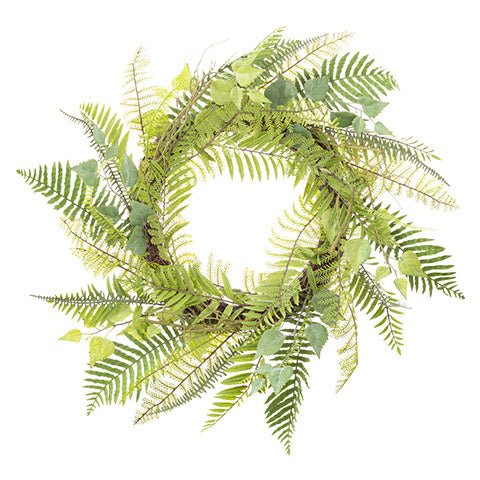 Fern Leaves Green Wreath: 24 inches