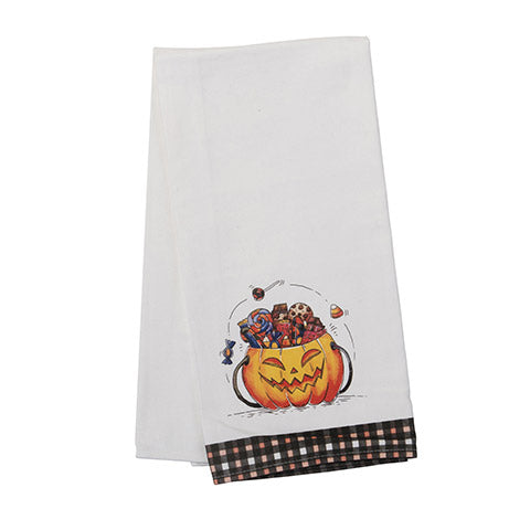 Halloween Candy Tea Towel