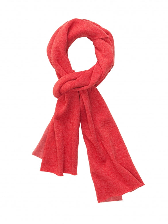 Red Slim Eco Fleece Scarf - thecodexclub