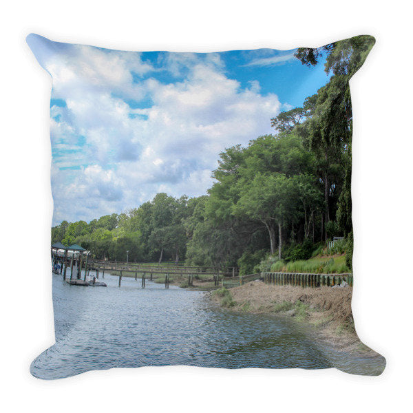 View on the Lake Square Pillow