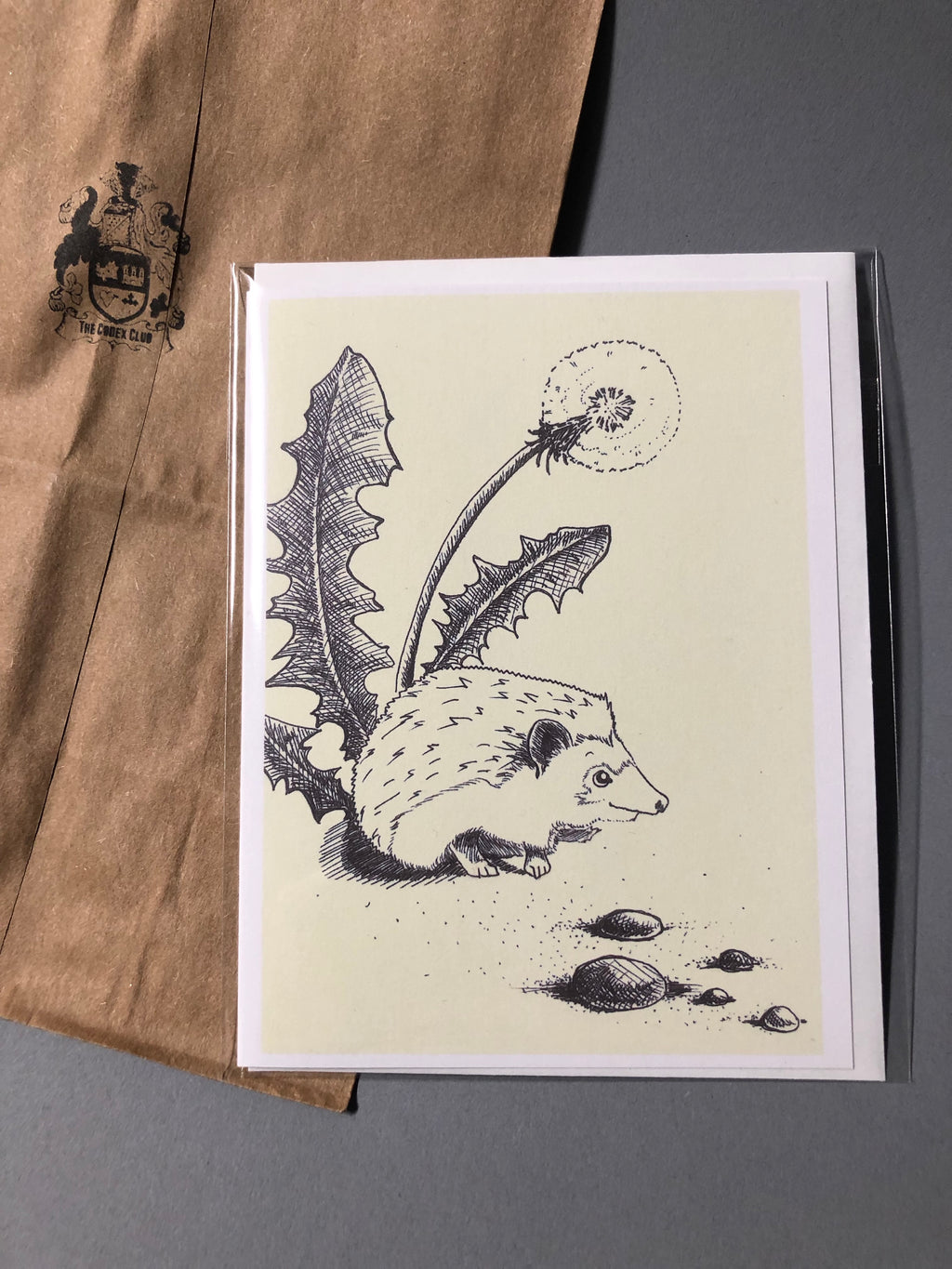 Dandelion Hedgehog Card, designed by Emily Heron