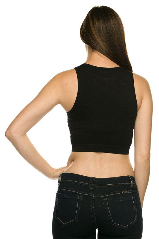 TCC Black Crop Top