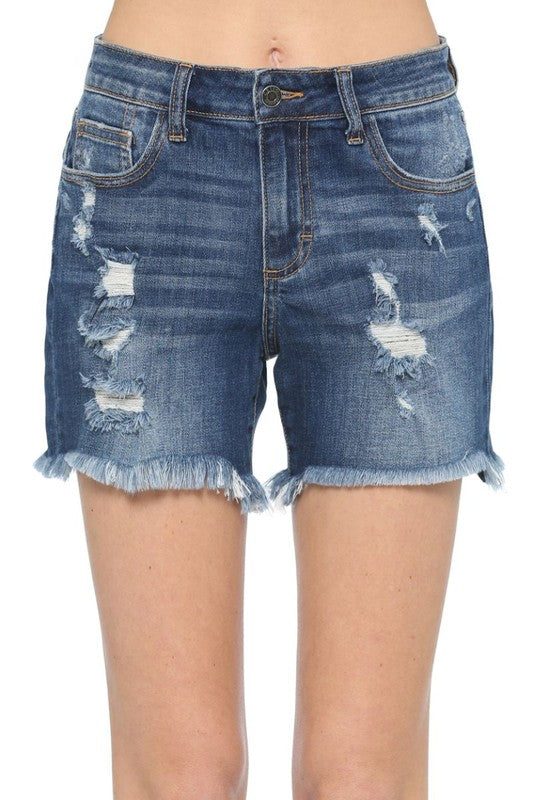Debbie Denim Boyfriend Shorts