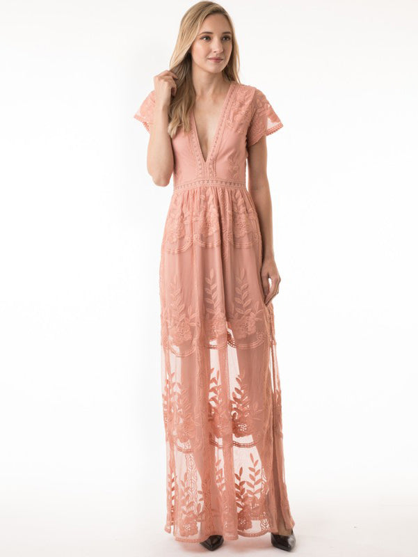 Live to Love Pink Maxi Dress