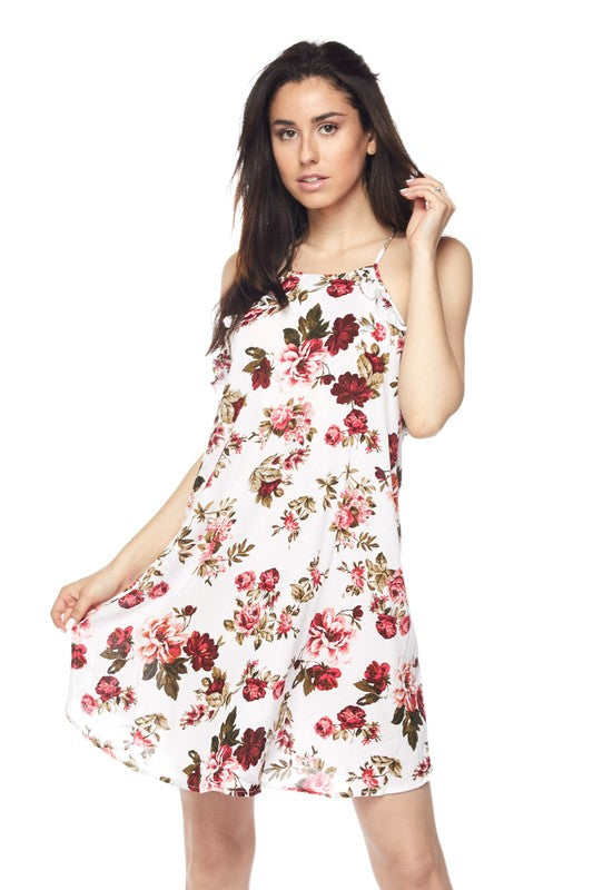 Stephanie Flowery Print Dress