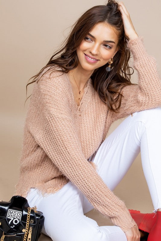 Millenial Pink Sweater