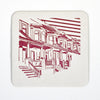Baltimore Maryland | House Architecture | Letterpress Coasters Package of 5 - thecodexclub